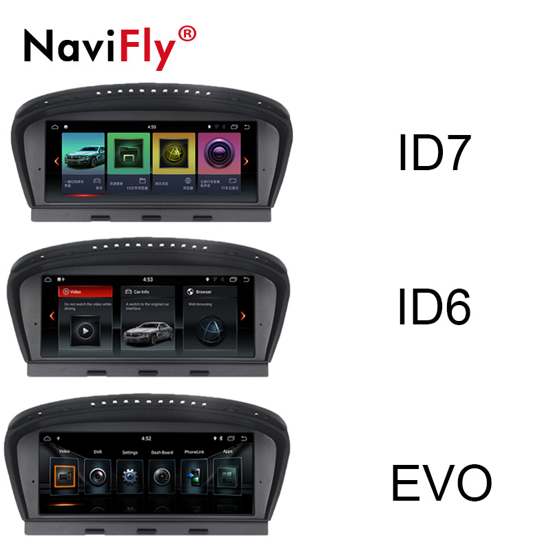 ID7 Android 7.1 Car GPS Navi For BMW 5 series E60 E61 E63 E64 For BMW 3 Series E90 E91 CCC CIC Car Audio Radio iDrive SWC 2+32G
