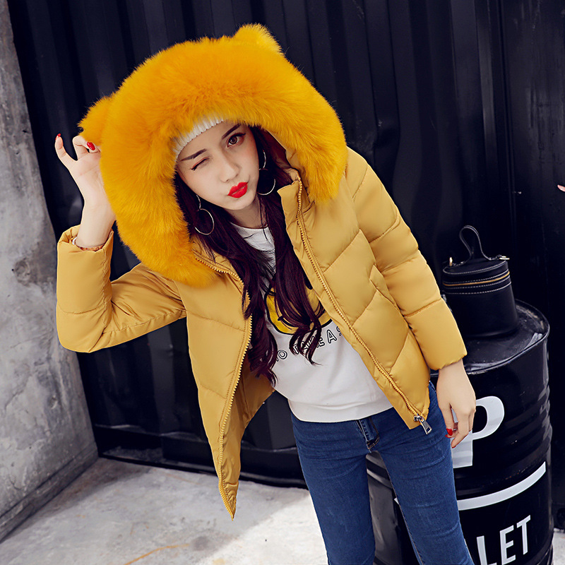 Viven Leigh Women 2017 Winter Cotton Jackets Slim Coat Fur Hooded Parka Warm Crop Tops Short Jackets Overcoat Female Parka femme comfast 300mbps outdoor cpe 2 4g wi fi ethernet access point cf e314n wifi bridge 1 3km extender cpe router with poe wifi router