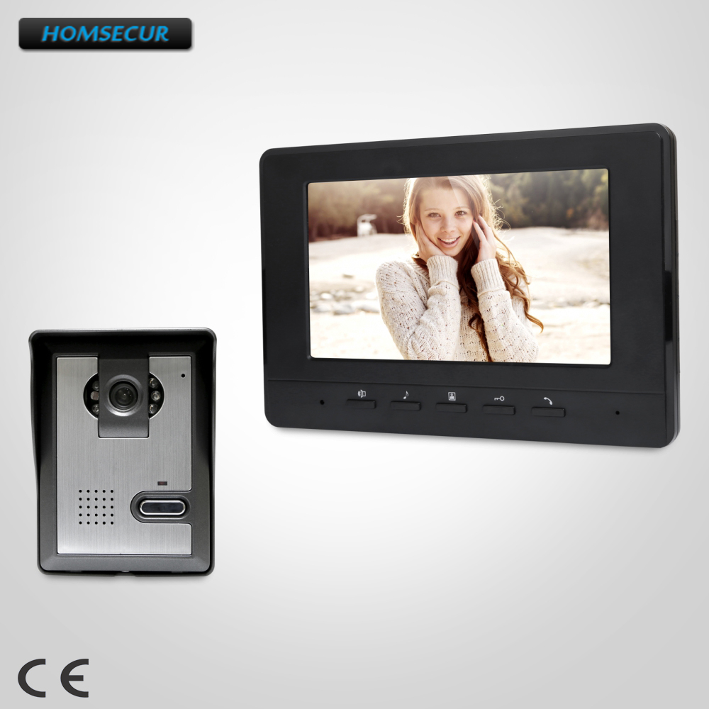 все цены на HOMSECUR 7inch Wired Video Door Phone Intercom System with Intra-monitor Audio Intercom : XC005+XM707-B онлайн