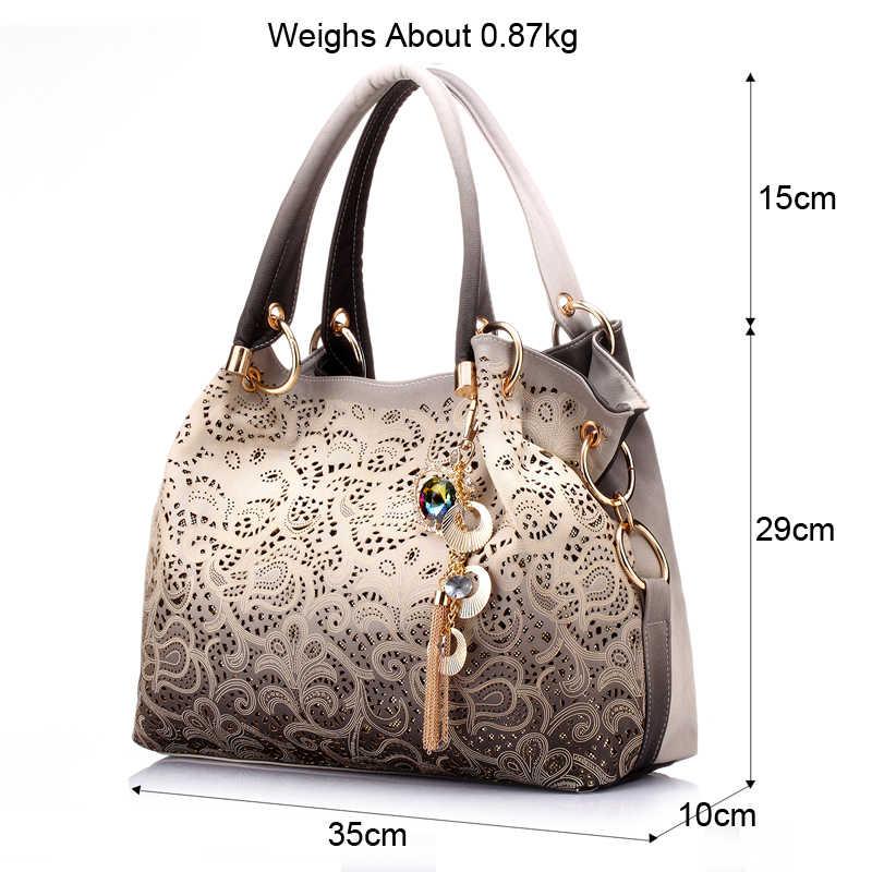 12e7fe568603 ... Бренд REALER большая сумка женская через плечо с орнаментом, сумки  женские, ажурная сумка хобо