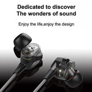 """Image 5 - Duszake סטריאו בס אוזניות בתוך אוזן 3.5 מ""""מ אוזניות מתכת HIFI Wired נהג כפול אפרכסת עם מיקרופון עבור טלפונים Xiaomi סמסונג"""