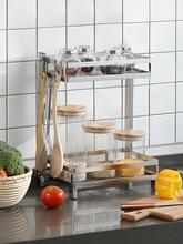 304 Stainless Steel Kitchen Shelf Condiment Double-layer Three-layer Multi-layer Countertop Kitchenware