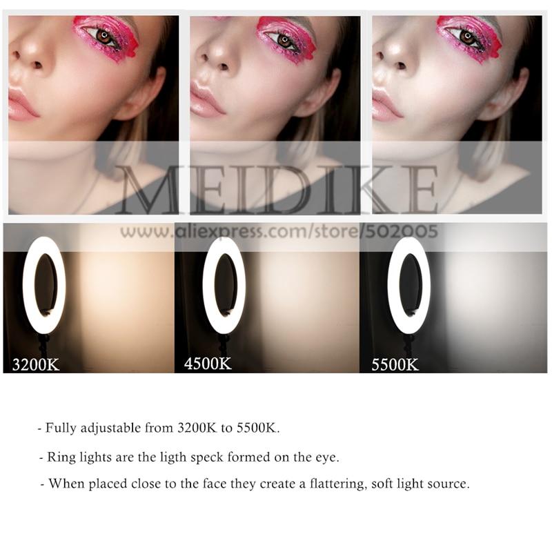 Yidoblo ақ FS-480II Dimmable Pro 2 түсті реттелетін - Камера және фотосурет - фото 3