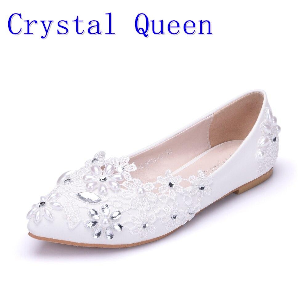 Crystal Queen Women Flats Shoes Handmade