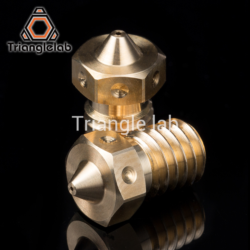trianglelab Top quality E3D V6 Nozzles for 3D printers hotend 4pcs/lot free shipping 3D printer nozzle dforce E3D Nozzles