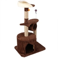 Large 55x40x96cm Cat's Toys Wood Scratching Tree Cat Climbing Jumping Tree Toy Cat Furniture Scratching Post #AM593900