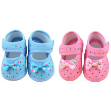 Baby girls print dot Bowknot Boots Soft Crib Shoes Scarpe da bambino Zapatos de bebe *40(China)