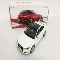 White/black 1:18 Car Model Audi A3 2012 Sedan Alloy Mini Car Miniature Automobile Gift collection