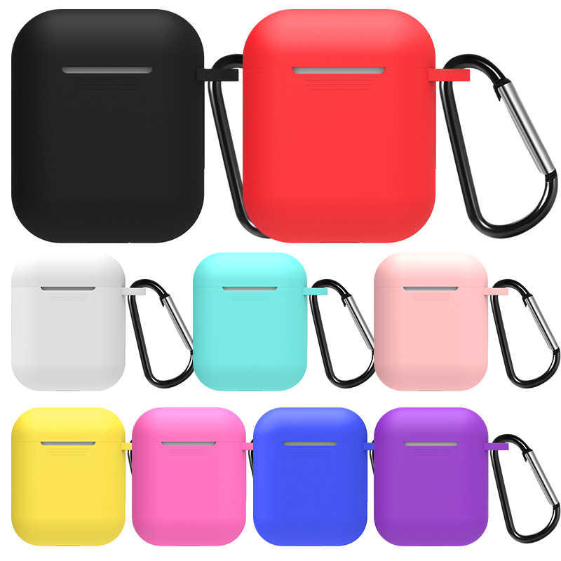 Soft Silicone Case For Apple Airpods Accessories Air pods wireless Bluetooth Earphone TPU Anti-knock Waterproof Protective Cover