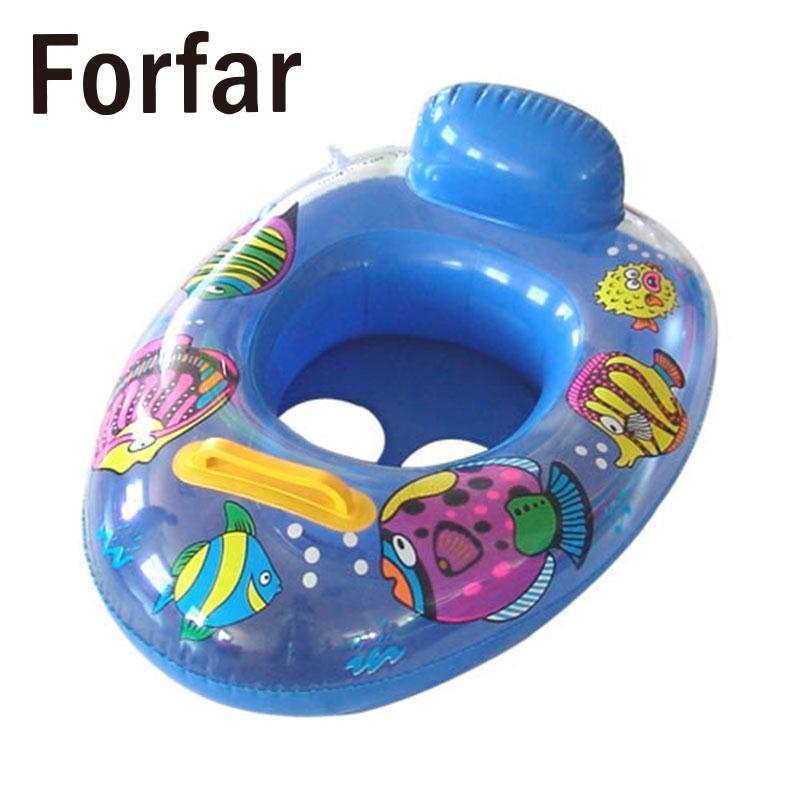 Forfar Inflatable Float Swimming Seat Ring Kids Baby