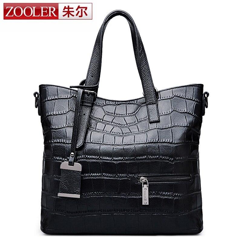 HOT,ZOOLER women leather bag alligator pattern genuine leather shoulder bag larg