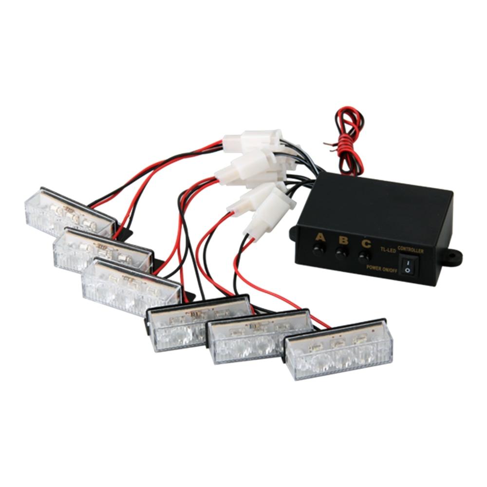 Mint például a sárga 18 LED-es Strobe Dash vészvillogó - Autó világítás