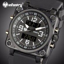 Мужские часы от ведущего бренда, Роскошные военные часы, мужские Аналоговые Цифровые Часы Авиатор для мужчин, армейские квадратные часы, мужские часы