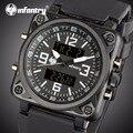 Мужские часы от ведущего бренда, Роскошные военные часы, мужские Аналоговые Цифровые Часы Авиатор для мужчин, армейские квадратные часы, му...