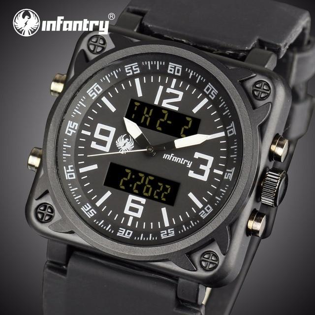 31fc7d64258 INFANTARIA Mens Relógios Top Marca de Luxo Militar Relógio Homens Relogio  masculino Analógico Digital Relógios para