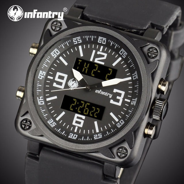 INFANTRY Mens Watches Top Brand Luxury Military Watch Men Aviator Analog Digital