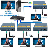 ZY DT209 200m HDMI Over IP Extender 1080P HDMI IR Extensor Over RJ45 CAT5 CAT5e CAT6 Cable With Loop Out Like HDMI Splitter