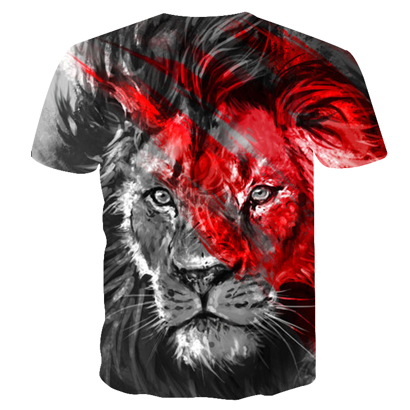 BIANYILONG 2018 New High Street Men/Women T-shirt 3d Lion Print Designed Stylish Summer T shirt Brand Tops Tees Plus Size M-5XL  1