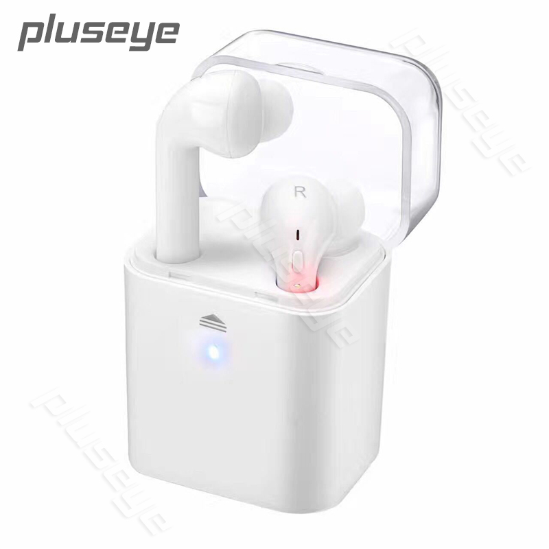 Pluseye MINI Wireless Bluetooth Earphone For iphone Twins portable In-ear headset pure color earphone remax t9 mini wireless bluetooth 4 1 earphone handsfree headset for iphone 7 samsung mobile phone driving car answer calls