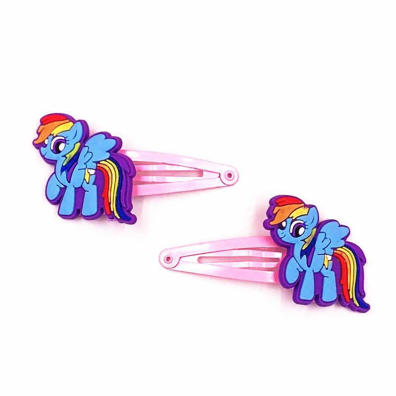 4 шт./лот, заколки для волос My little Baoli Poni Rainbow tail Horse, заколки для волос, заколка, аксессуары для волос для девочек, эластичная резинка для волос, резинки для волос