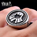 Beier 316L Stainless Steel Game of Thrones cool faceless men hot sale biker ring  Fashion Jewelry BR8-344