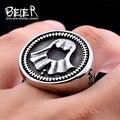 Beier game of thrones faceless cool aço inoxidável 316l biker anel jóias da moda dos homens venda quente br8-344