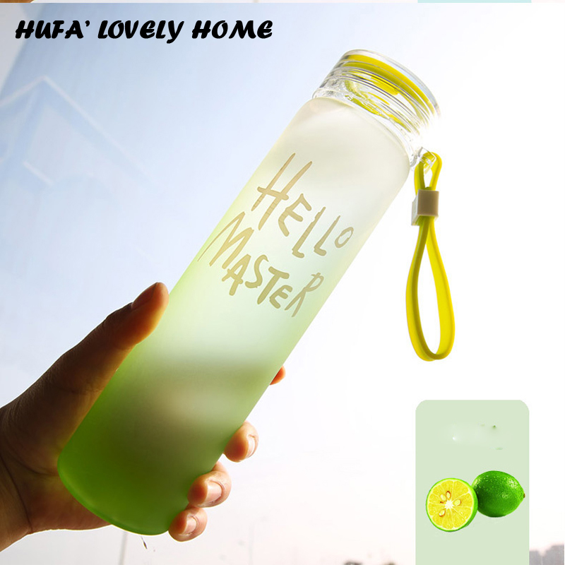 75c430a995 480ml Leakproof Water Bottle With Lid Cute 4 Color Coffee Milk Water Direct  Drinking Glass Bottle Nice Drinkware Gift-in Water Bottles from Home &  Garden on ...