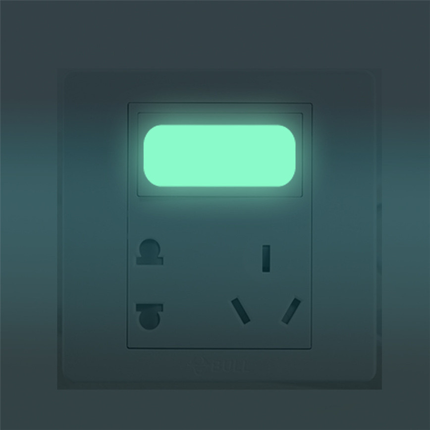 Wall Sticker Luminescent Glow In The Dark Vinyl Light Switch Stickers 10 pc Aug11 ph25 in Wall Stickers from Home Garden