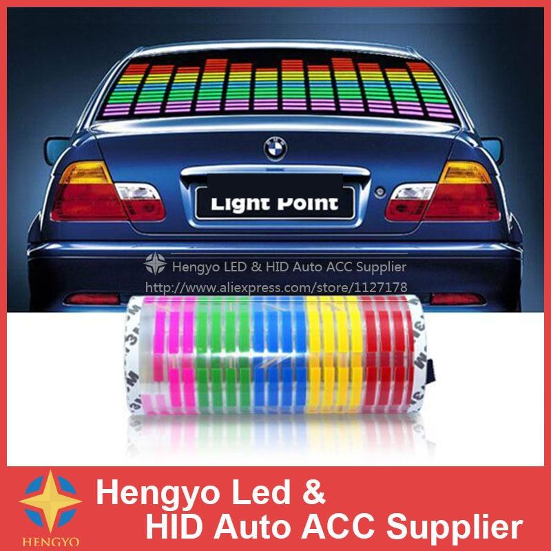 45*11CM Car Music Rhythm Light Flash Car Sticker Music ...