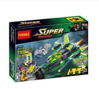 """Decool 7109 """"super-herói terno. A lanterna verde vs senitos. """"174 peças legoings 3d diy figuras brinquedos para crianças"""