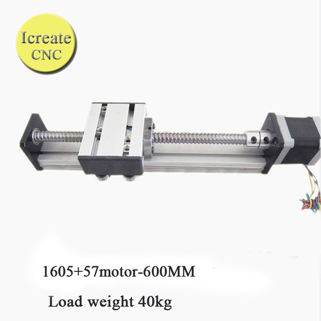 free shipping 600mm linear motion guide nema 23 linear slide motor