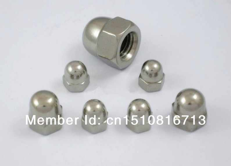 Anmas 50pcs M6 Stainless Steel Cap Dome Hex Nuts for Screws Blots Inner Diameter 6mm Height 12mm