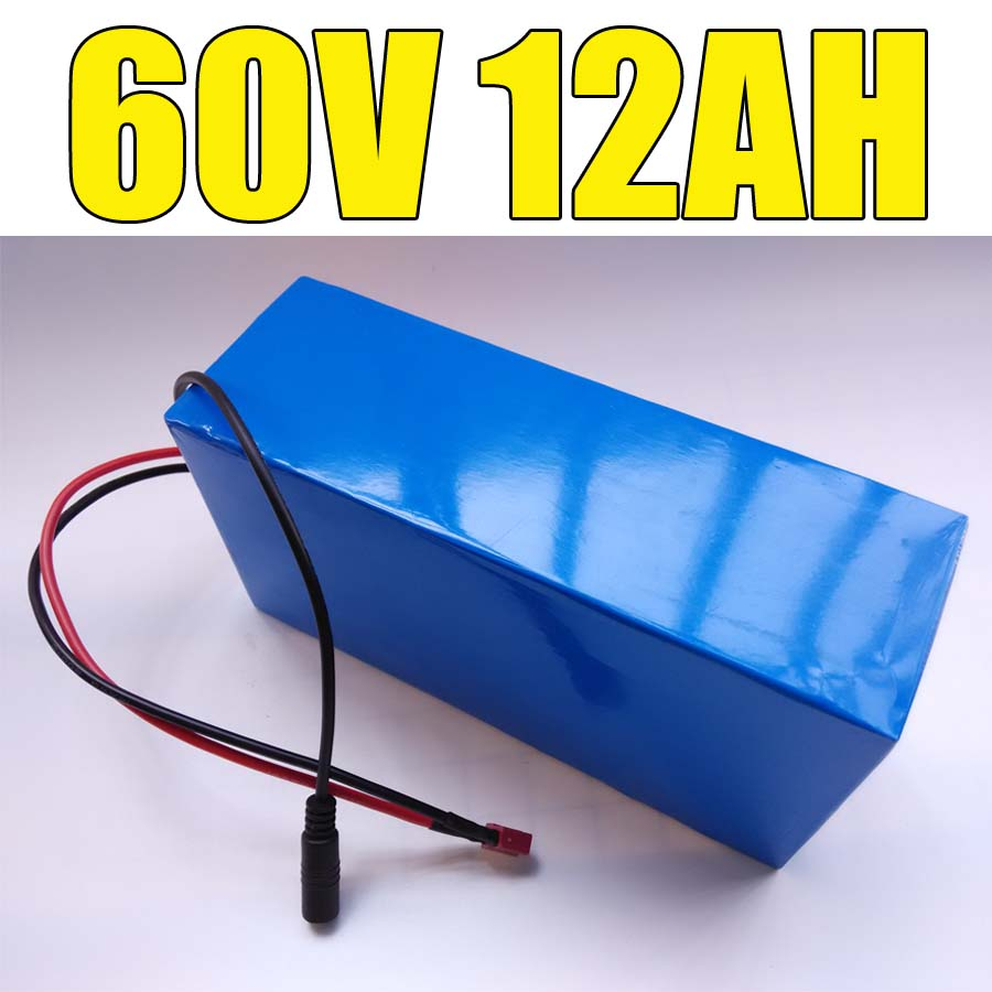 lithium ion battery 1800w <font><b>60v</b></font> 18650 electric bike battery <font><b>60v</b></font> 12ah triangle battery pack with BMS charger For <font><b>Samsung</b></font> cell image