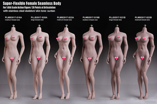 New 2017 Phicen 1/6 Super Flexible Female Seamless Body Action Figure 28 points of articulation with stainless steel skeleton