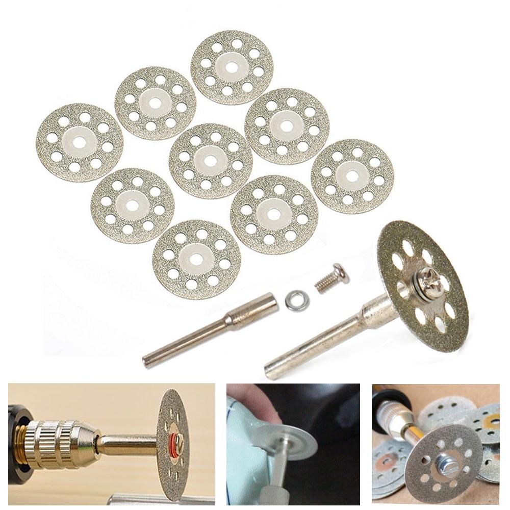 цена на 10x 20mm diamond cutting discs tool for cutting stone cut disc abrasives cutting dremel rotary tool accessories dremel cutter