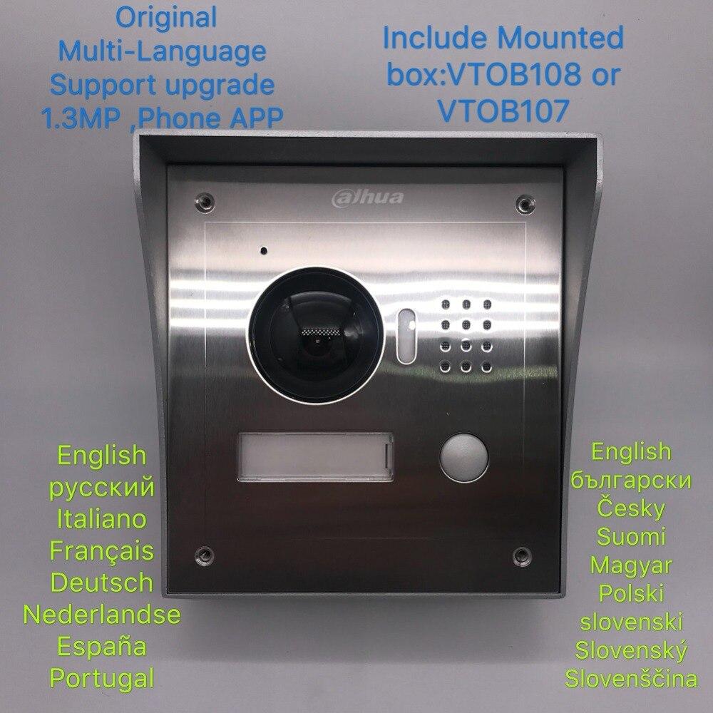 AHUA Multi-lingua VTO2000A-2 2-Wire IP Stazione di Villa Outdoor Incluso installare box