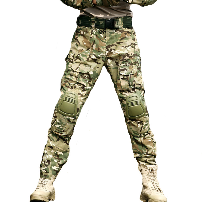 Tactical Pants Military Style Clothing Army Camouflage Cargo Pantalon SWAT Work Frog Pants Men Airsoft Combat Trouser Knee Pad