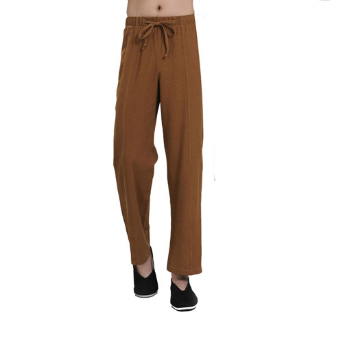 High Quality Men Linen Trousers Yoga Clothes Meditation Clothing Cotton Pants brand 2016 spring summer yoga clothing set cotton linen meditation clothes high quality women buddhist set sports suits kk395 20