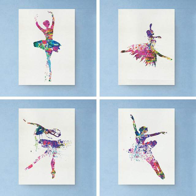 Online Shop Colorful Ballerina Ballet Dancer Minimalist Art Canvas ...