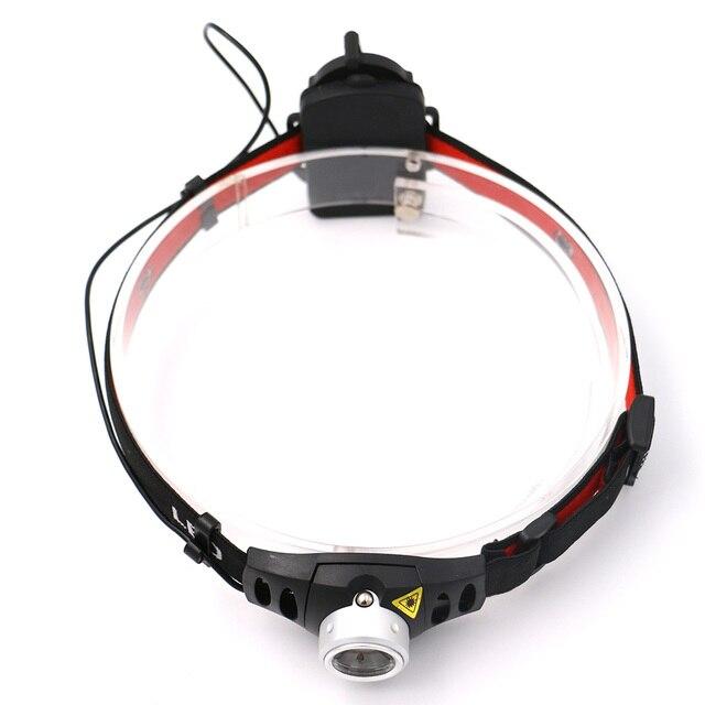 Алюминий сплав Q5 светодио дный фар режим 2 1000 люмен Увеличить Фокус фары Водонепроницаемый головной свет лампы AAA Кемпинг Фонарь налобный