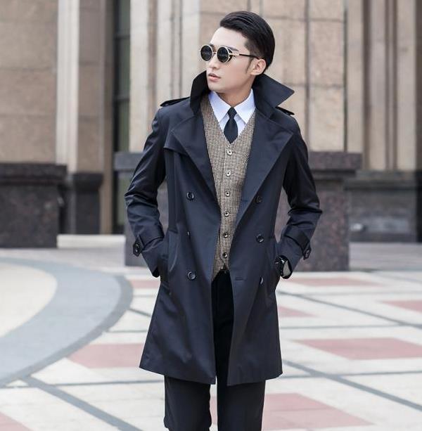 Popular Mens Blue Trench Coat-Buy Cheap Mens Blue Trench Coat lots