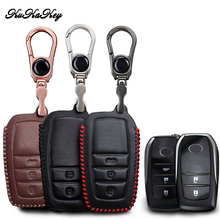 KUKAKEY Leather Car Key Case Cover For Toyota Chr C-hr Land Cruiser 200 Avensis Auris Corolla Key Chain Case Styling Accessories kukakey tpu car key cover case bag for toyota avensis corolla chr yaris prius camry land cruiser prado 150 key ring shell fob