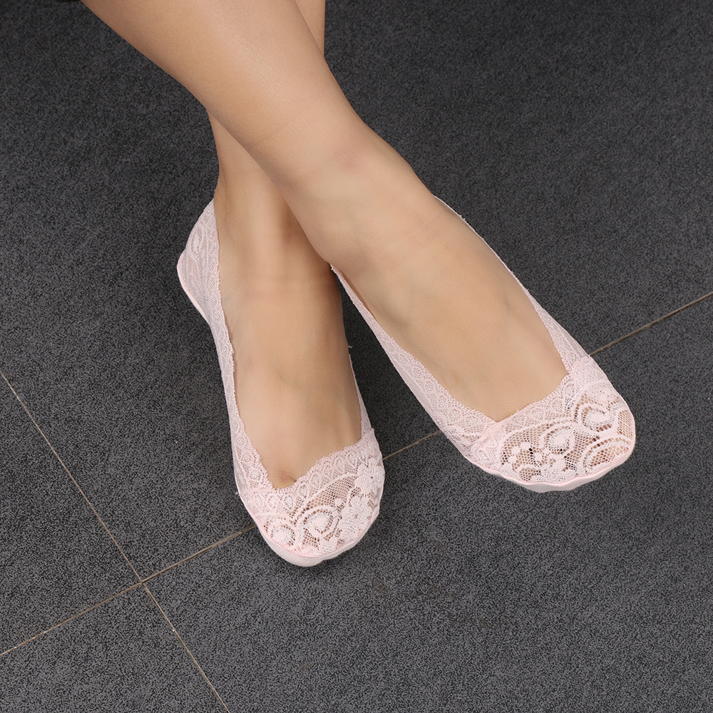 1 Pair Of 2017 Hot Summer Women Girls Cotton Lace Antiskid -1651