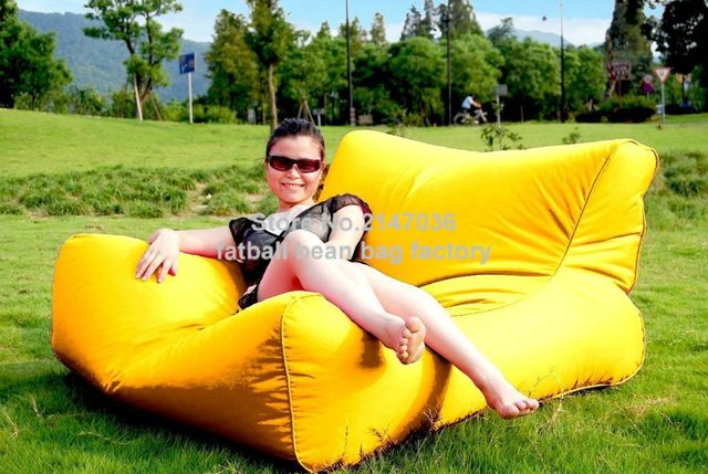 Yellow   Outdoor Big Joe Bean Bag Chair, Theatre / Gaming Chair, Waterproof  2 Seat Space Cushion Waterproof Furniture Sofa Seat