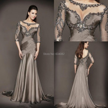 2015 Classic Scoop Neck Evening Gown A Line Long Evening Dress Sequined Crystal Chiffion Mother Of The Bride Dresses цена