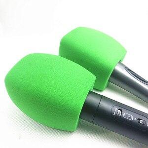 Image 2 - Linhuipad tampa de microfone para estação de tv, tampa de microfone de mão, protetor de vento verde para microfone, transmissão de vídeo