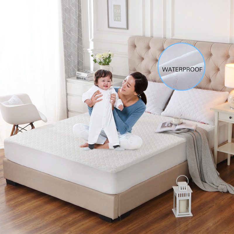 Beautiful Clouds Jacquard Anti-mite Waterproof Mattress Cover Breathable Protection For  ...