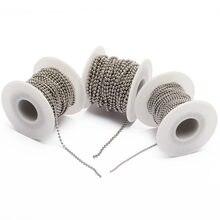 10 м/диаметр рулона 15 мм 2 24 Шариковая цепочка из нержавеющей