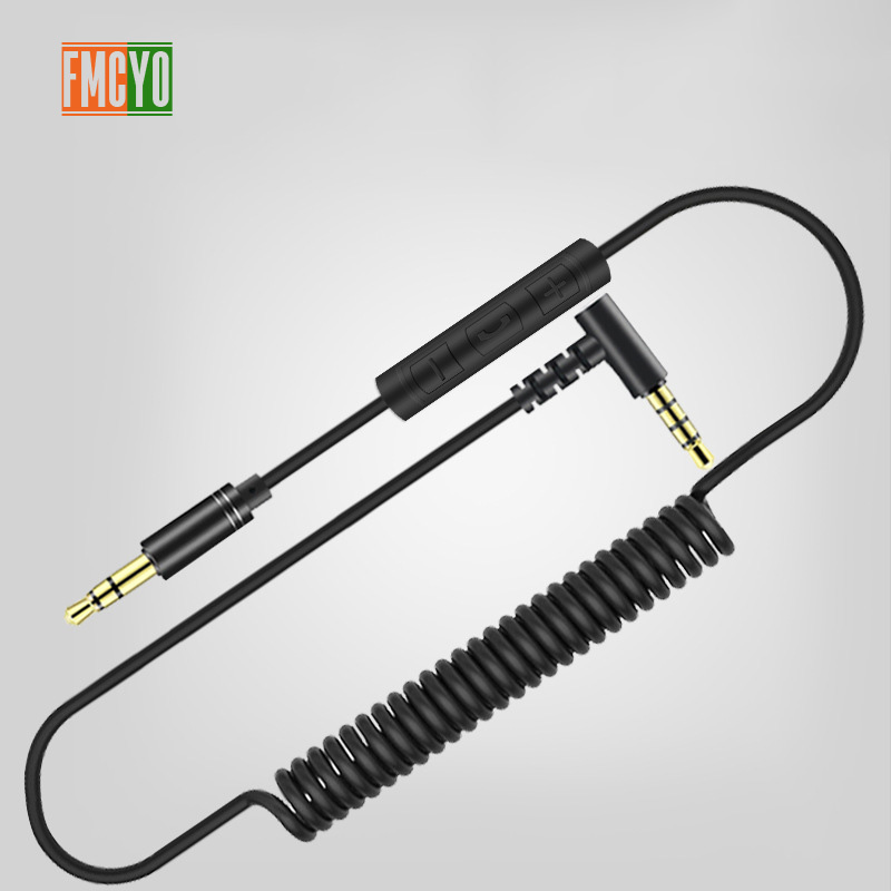 Image 2 - 3.5 Aux Cable 1m Extension Aux Cord 3.5 Jack Male to Male Aux Cable Spring for Car Iphone