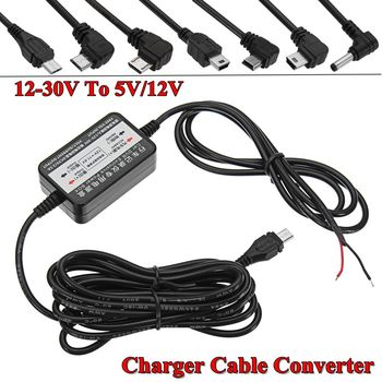 Автомобильный gps dvr камера адаптер DC12/24 V до 5V 2A инвертор конвертер Micro Mini USB/DC 3,5 мм Hardwire для Dash Cam комплект жесткого провода